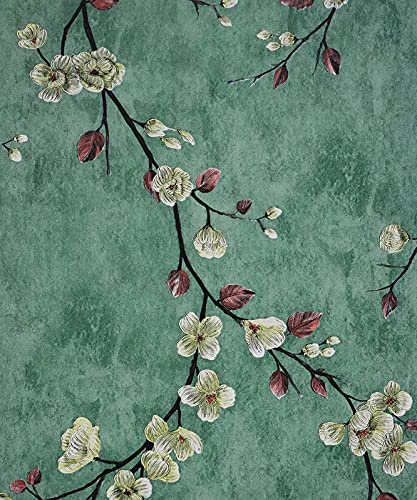 Flower Tree Wallpaper Peel and Stick Wallpaper Self Adhesive Removable Contact Paper Wall Covering Shelf Drawer Liner Vinyl Roll 17.7' x 118'