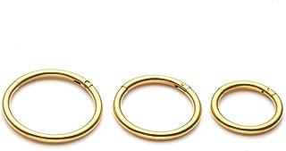 Zytsa 3paia Piercing da Naso in Acciaio Inox 16GA 8-12mm Orecchini Cerchio Piercing Clicker Anello Labbro Trago Setto Corpo