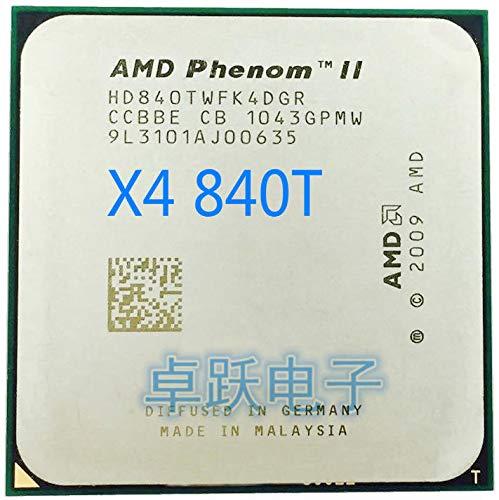 Phenom II X4 840T CPU Processor Quad-Core (2.9Ghz/ 6M /95W) Socket AM3 AM2+ 938 Pin Working 100%