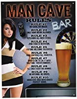 MAN CAVE RULES★男の秘密基地のルール★アメリカンブリキ看板