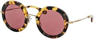 Miu Miu MU13NS Round Sungl For Women+FREE Complimentary Eyewear Care Kit