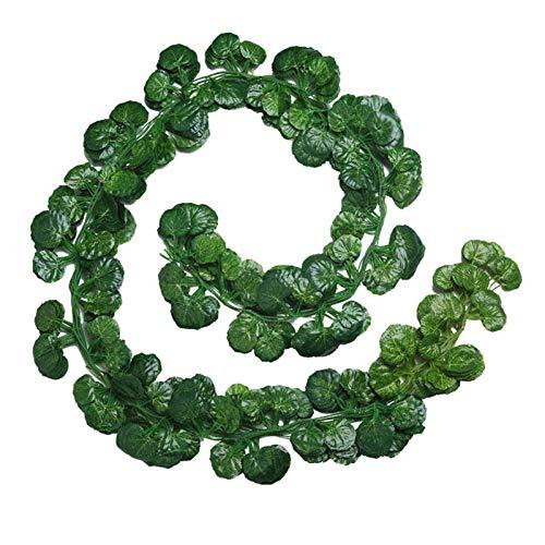 ZHTY 80 PCS Hoja / 100 PCS Hoja / 2.3 M Decoración para el hogar Artificial Ivy Hoja Guirnalda Plantas Vid Fallo Follaje Flores Enredadera Verde (Color: 2) Song (Color : 1)