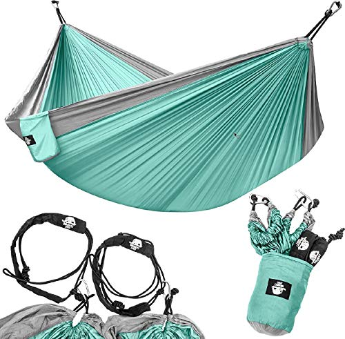 Legit Camping - Double Hammock - Lightweight Parachute Portable Hammocks for Hiking , Travel ,...