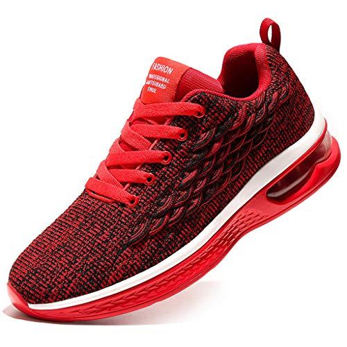 catmoew Sportschuhe Laufschuhe Sneaker Atmungsaktiv Verschleißfest Leichte Traillaufschuhe Turnschuhe Schnürer Fitnessstudio Freizeitschuhe für Herren Damen