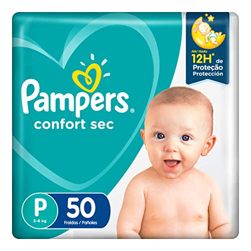 Fralda Pampers Confort Sec P 50 Unidades, Pampers