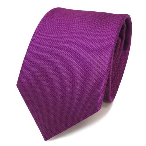 TigerTie diseñador corbata de seda - morado violeta purpur lunares