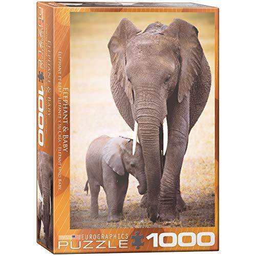 Eurographics 00270 - Elefante con bambino - Puzzle 1000 pezzi