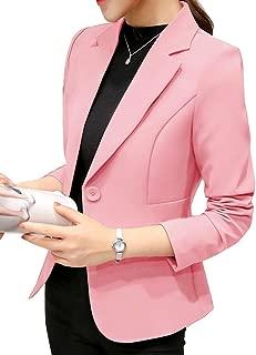 Risvolto Blazer Donna Vestiti Eleganti Ragazze Manica Lunga Bodycon Occupazione Doppio Petto Giacca con Tasca Abito Casual Vestito Puro Colore Dress Abbigliamento Ufficio S-XL
