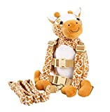 Berhapy 2 in 1 Monkey Toddler Safety Harness Backpack Children's Walking Leash Strap (giraffe)