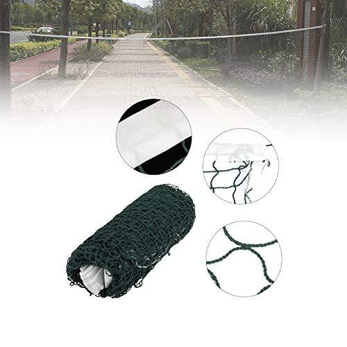 Acogedor, Rete portatile da badminton con altezza regolabile, pieghevole, per tennis, pallavolo, colore: rosso/verde, Verde