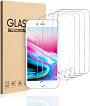 MOSBO [5 Pack] Screen Protector Compatible with iPhone 8 Plus, iPhone 7 Plus, iPhone 6S Plus, iPhone 6 Plus, Tempered Glass Screen Protector, 5.5 inch, 3D Touch, Anti-Scratch, Case Friendly
