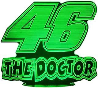 46 The Doctor,Lampada illusione 3D con LED - 7 colori.