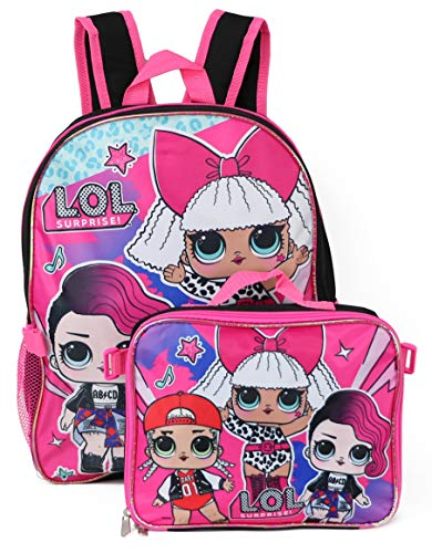 LOL Surprise Backpack with Lunchbox - black multi, one size