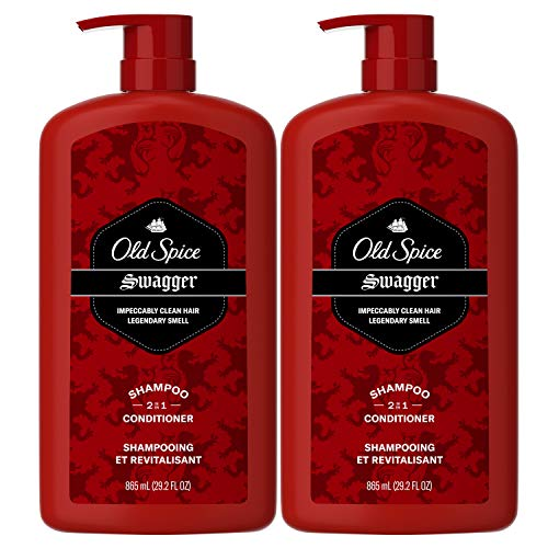 Old Spice Swagger 2-in-1 Shampoo and Conditioner for Men 29.2 Each Twin Pack, Fresh, 58.4 Fl Oz