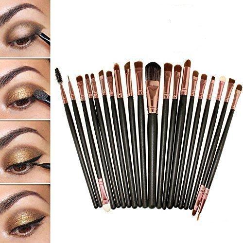 20 Stück Make Up Pinselset Makeup Bürsten Foundation Lidschatten Eyeliner Mascara Lippen Make-up Pinsel Kosmetik Set -Mit eine Rosa Tasche