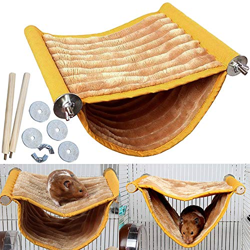 Hamster Hammock House Mouse Rat Hanging Swing Warm Bed Small Pet Animal Double Layer Cage Tent Hut Nest for Mouse Rat Hamster Playing Sleeping