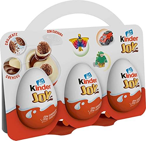 Kinder Huevo Joy - Paquete de 3 x 20 gr