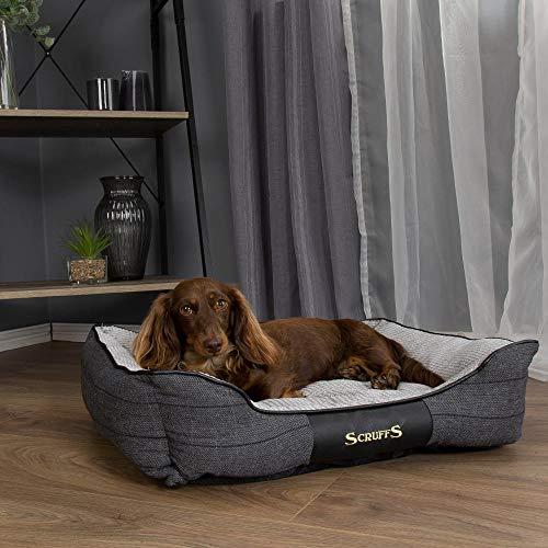 Scruffs Windsor Hundebett für Hunde, 60 x 50 cm, Größe M, Anthrazit, 0,99 kg