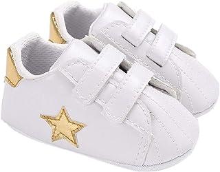 Scarpe da Culla per Bambini Sneakers da Bambino Prewalker per Neonati a Forma di Stella Premium per Neonati Appena Nati (C...