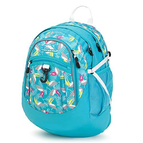 High Sierra Fatboy Backpack, Toucan/Tropic Teal/White, 19.5 x 13 x 7-Inch