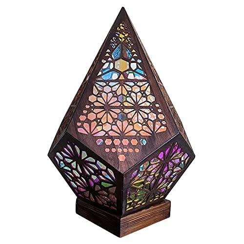 Lámpara de pie bohemia LED colorida lámpara de proyección 3D diamante colorido lámpara sueño herramienta de iluminación, adecuado para fiestas, cumpleaños, decoraciones de Halloween