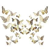 84 Stück 3D Schmetterling Wandtattoo Aufkleber...