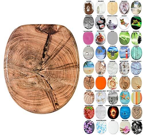 WC Sitz, viele schöne WC Sitze zur Auswahl, hochwertige und stabile Qualität aus Holz (Old Tree)