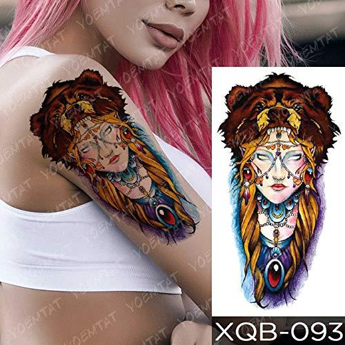 shiyueNB Adhesivo Impermeable del Tatuaje de la Escuela Vieja del Ancla del Tatuaje de Cabra Owl Rosa Sirena Traje de Arte Corporal Celebs Tatuaje 3pcs