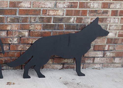 GERMAN SHEPHERD DOG SHADOW SILHOUETTE WOOD OUTDOOR LAWN & GARDEN YARD ART SIGN