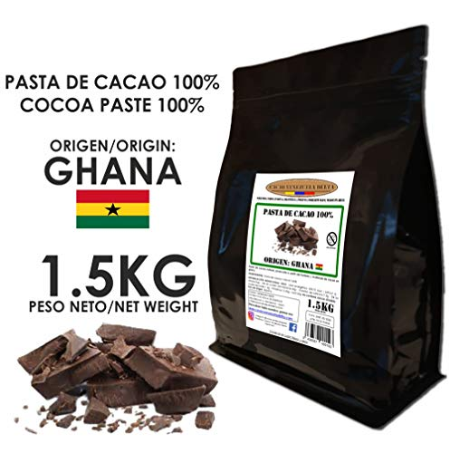 Cacao Venezuela Delta - Chocolate Negro Puro 100{37cf1bb9c8cccc293d16e51c538346f33ce8cd2c414500442da5081cf39c4864} · Origen Ghana (Pasta, Masa, Licor De Cacao 100{37cf1bb9c8cccc293d16e51c538346f33ce8cd2c414500442da5081cf39c4864}) · 1,5kg