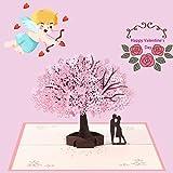 Tarjeta de Pop Up 3D, Tarjeta de San Valentín, Tarjeta de Aniversario, Tarjeta Romántica para Día de San Valentín/Bodas/Cumpleaños/Aniversario/Tarjetas de Felicitación/con Sobre
