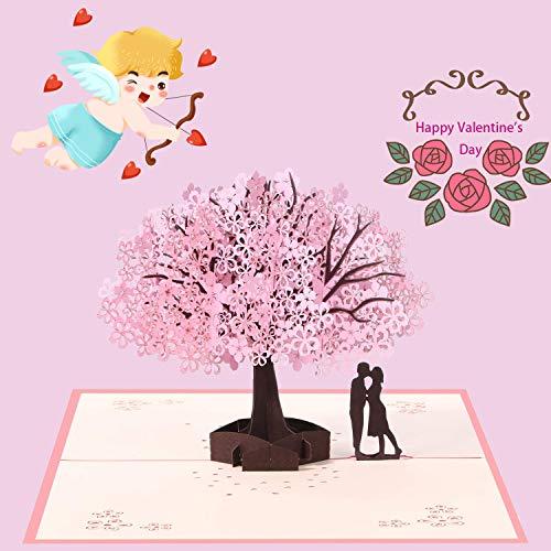 3D Romantico di Auguri Carta, Nozze di Auguri Carta, Anniversario Carta, Biglietto di Compleanno, 3D Pop Up Carta, per Anniversario/Regalo di San Valentino/Compleanno/Matrimonio/con Busta