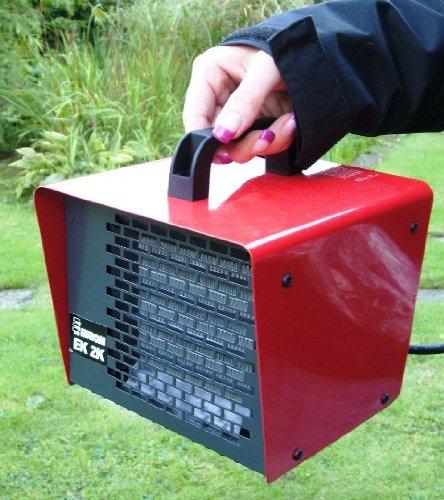 Euromac EK2K 2000W Black, Red–Electric Space Heaters (Black, Red, IP21, 230V, 50Hz, Metal, 187mm)