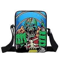 The Joker Prints Mini Messenger Bag For Funny Clown Young Women Daily Crossbody Bag Boys Girls School Bags Gift Bags