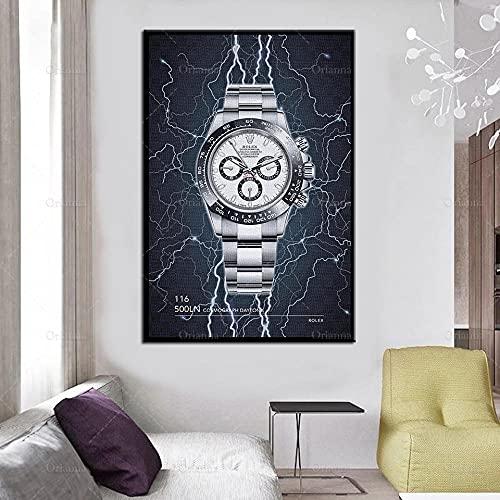 HUANGXLL Rayo Relojes Pintura Cartel e impresión en Lienzo Cuadros de Arte de Pared para Sala de Estar Pasillo de Oficina Modular decoración del hogar-50x70cm-sin Marco