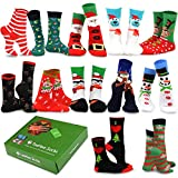 TeeHee Christmas Holiday 12-Pack Gift Socks for Women with Gift Box (Holiday-C)
