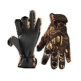 Angelhandschuhe Herren Damen Outdoor Angeln Anti-Rutsch 3 Cut Finger Sport Fischausrüstung Angling SBR Handschuhe