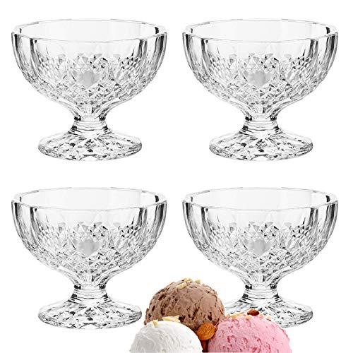 Dessert Ice Cream Cups Mini Truffle Bowls Salad Fruit Dish Crystal Style Glass - Lead Pb Free 4