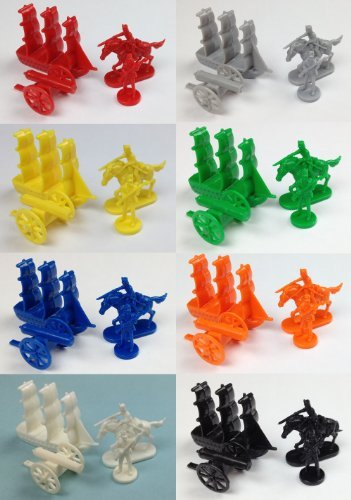 Napoleonic & Civil War Military Miniatures (Set of Eight Colors): Plastic Toy Soldiers Set: Infantry, Cavalry, Artillery, Ships