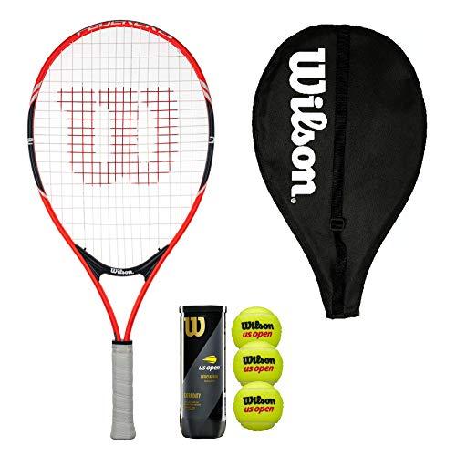 Wilson Federer 23 - Raqueta de tenis con cubierta y 3 pelotas de tenis
