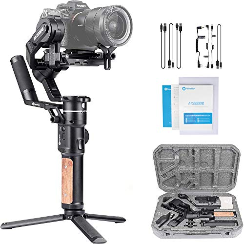 FeiyuTech AK2000S 3 Axis Gimbal Stabilizer,AK2000 S Handheld Stabilizers Compatible with Nikon Sony Canon Mirrorless and DSLR Cameras ,Smart Touch Panel