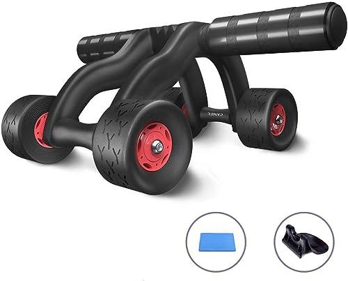 DWW AB Wheel Fitness Equipment - 4 séries de système innovant de Gravure sur Rouleau d'abdomen Ergonomique - Equipement d'entraînement pour la Boxe familiale