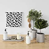 Orediy Toalla de baño, diseño de leopardo, color negro, blanco, muy absorbente, muy suave, lujoso, 76 x 38 cm, calidad premium, secado rápido para uso diario