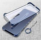 STUDOZ Frameless Back Cover for Oppo Reno 2 I Ultra Thin Matte Texture I Frosted Translucent Bumper Corners I Borderless Hard Case - Blue
