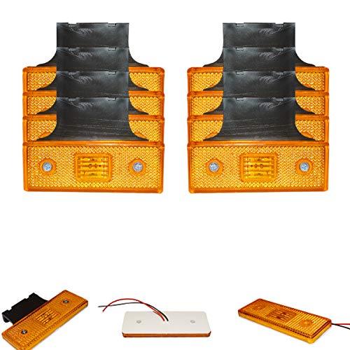8x 4 SMD LED 12V 24V Gelb Begrenzungsleuchte Positionsleuchte LKW PKW Anhänger