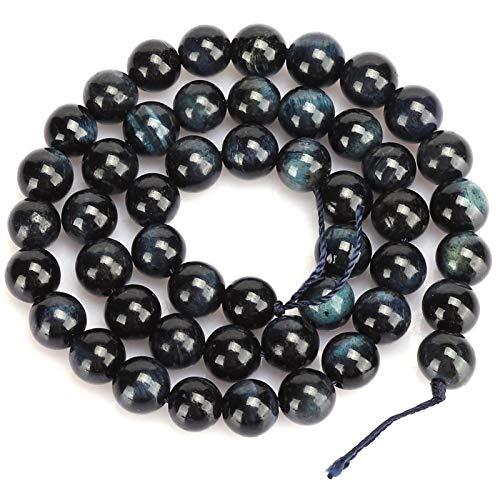 Cuentas de cristal de ojo de tigre negro con cuentas redondas cuentas de bricolaje joyería pulsera haciendo accesorios (8 mm)
