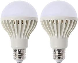 Uonlytech White Light LED Bulb Saving Energy Emergency Voice Control Light Household Bulbs 2 Pcs