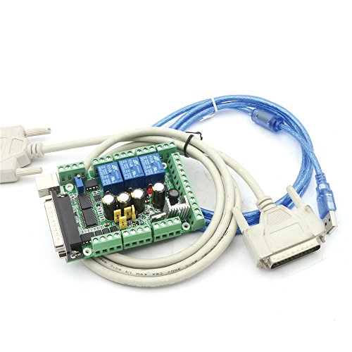 5 Axis Mach3 Stepper Motor Controller Board Breakout Board interface board For CNC Router Engraving Milling Machine