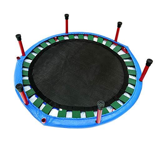 WAJI Trampoline, fitness-oefening trampoline voor volwassenen of kinderen opvouwbare sporttrampoline met huishouden, antislipmatten veilig en stabiel