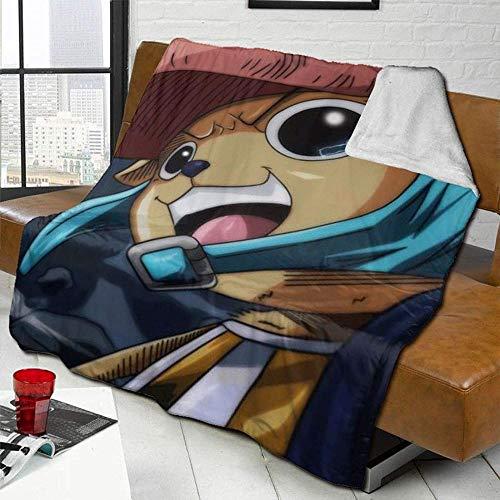 KPSHY Una Pieza Manta de Dibujos Animados Tony Tony Chopper Franela Cama Manta Sofá Manta Four Seasons Regalo Dibujos Animados 3D Camping Manta Viaje Habitación Habitación para niños